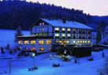 Hotel Gassbachtal in Grasellenbach, Odenwald, Winter