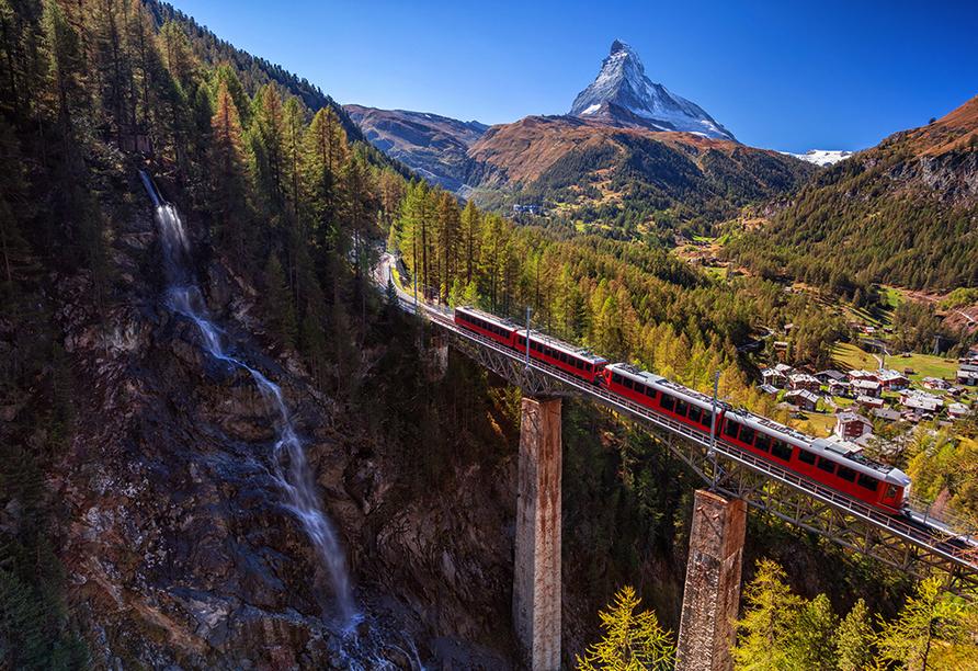 Hotel Holiday, Zermatt, Schweiz, Gornergratbahn