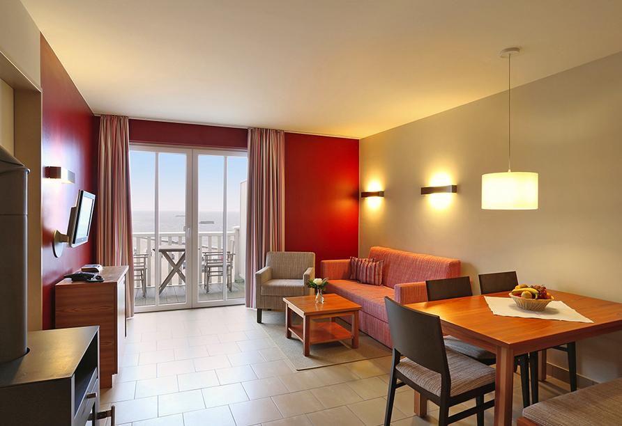 Dorfhotel Boltenhagen, Beispiel Appartement Typ 1