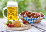 Salzalpensteig, Obatzda mit Brezeln und Bier