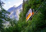 Salzalpensteig, Salzbergbahn in Hallstatt