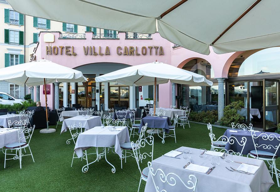 SHG Villa Carlotta in Belgirate Italien, Terrasse