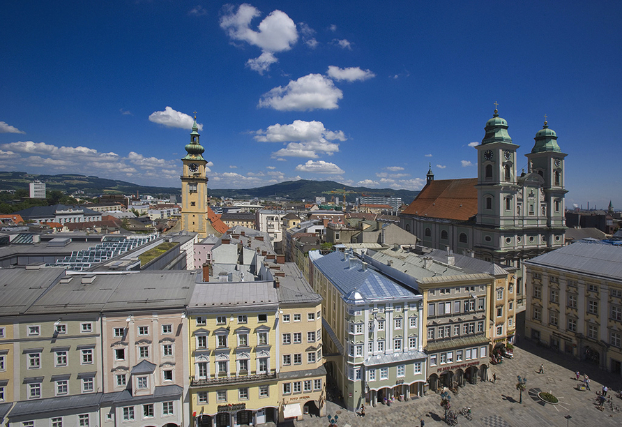 Donauradreise, Stadt Linz