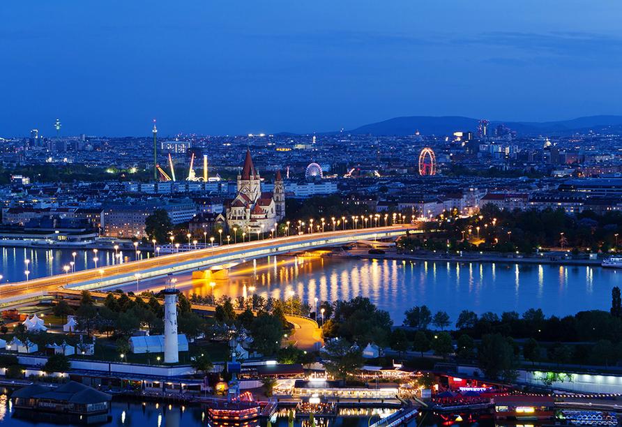 Donauradreise, Stadt Wien