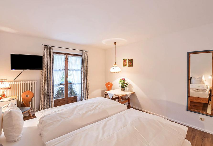Das Bergmayr - Chiemgauer Alpenhotel, Beispiel eines Doppelzimmers