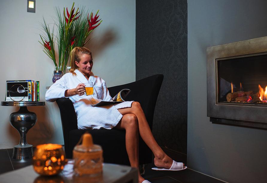 Der Wellnessbereich im Roompot Vakanties Ferienpark Boomhiemke lädt zum Entspannen ein.