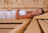 Waldhotel Hubertus, Frau in der Sauna