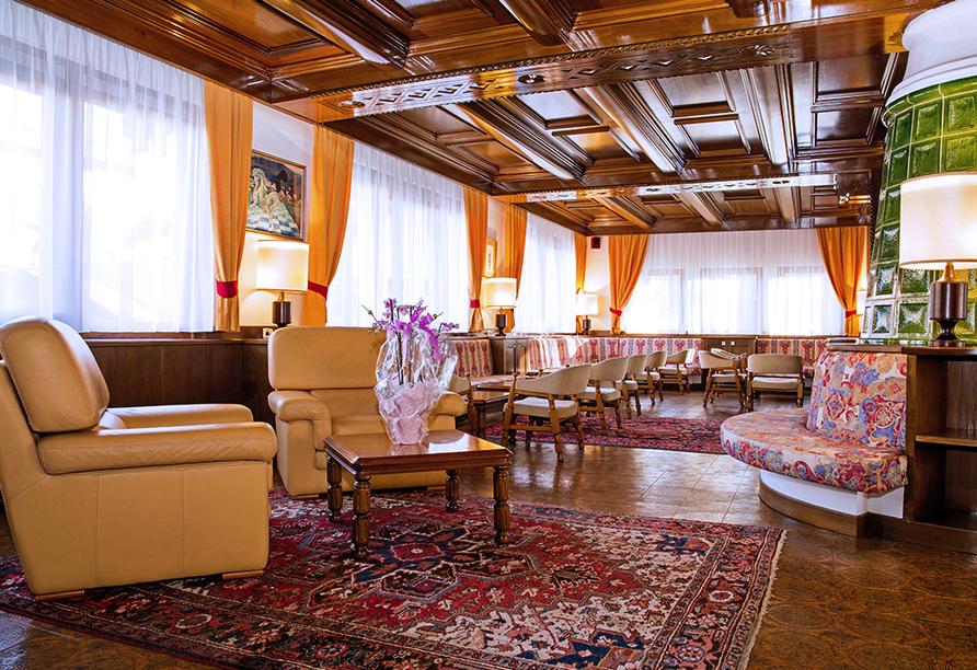 Hotel San Valier in Cavalese, Trentino Südtirol, Eingangsbereich