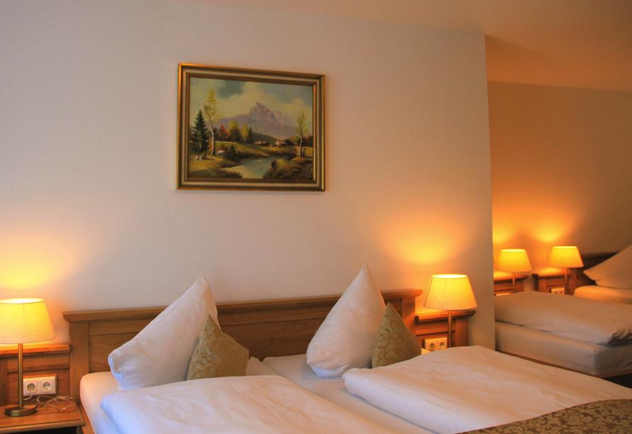 Hotel Schwabenwirt in Berchtesgaden, Beispiel Familienzimmer