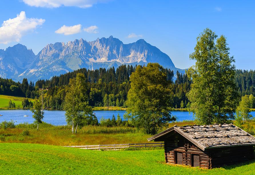 Hotel Taxacher in Kirchberg, Tirol, Österreich, Schwarzsee