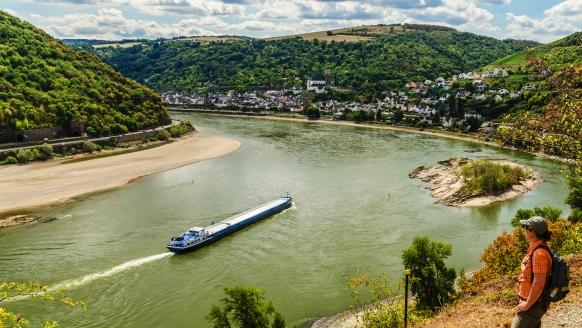 Blick übers Mittelrheintal