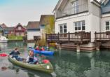 Precise Resort Marina Wolfsbruch, Familie Kajakausflug