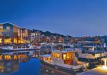 Precise Resort Marina Wolfsbruch, Abendstimmung im Jachthafen