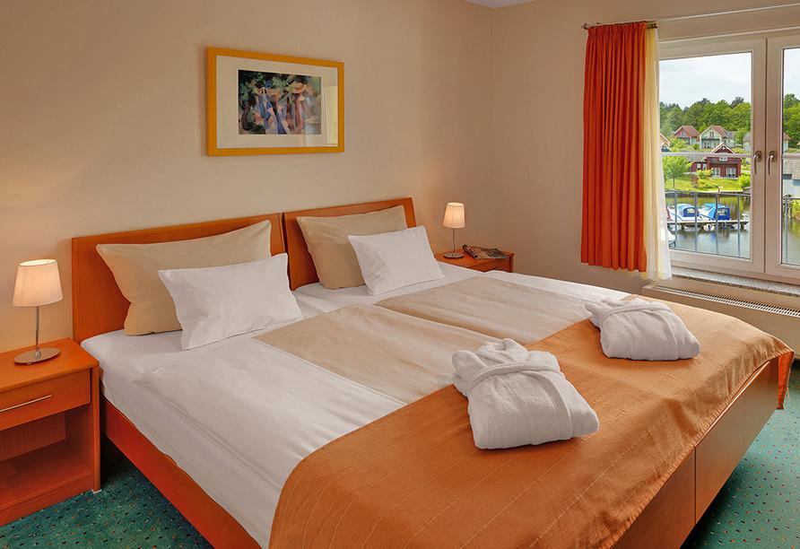 Precise Resort Marina Wolfsbruch, Beispiel Apartment Schlafzimmer