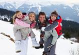 Blue Mountain Resort, Familie im Winter