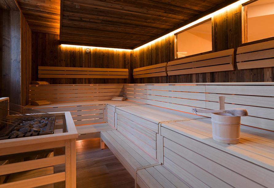 SCOL Sporthotel Großglockner in Großdorf in Tirol, Sauna