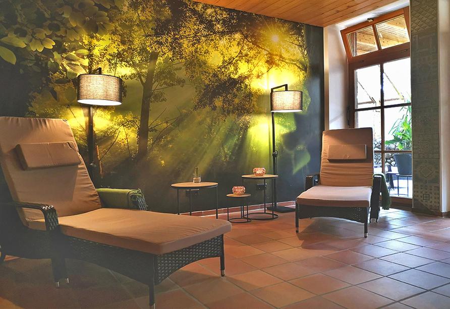 Entspannen Sie im frisch renovierten Ruhebereich.