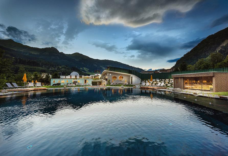Landhotel Steindlwirt in Dorfgastein im Salzburger Land in Österreich, Sauna im Solarbad Dorfgastein