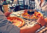 Norditalien und Schweiz, Pizza