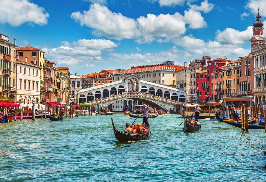 Norditalien und Schweiz, Rialtobrücke in Venedig