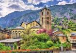 Erkunden Sie die schönsten Sehenswürdigkeiten von Andorra la Vella, wie die bekannte Església Sant Esteve.