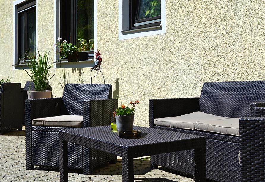 Hotel Gassbachtal in Grasellenbach, Odenwald, Terrasse