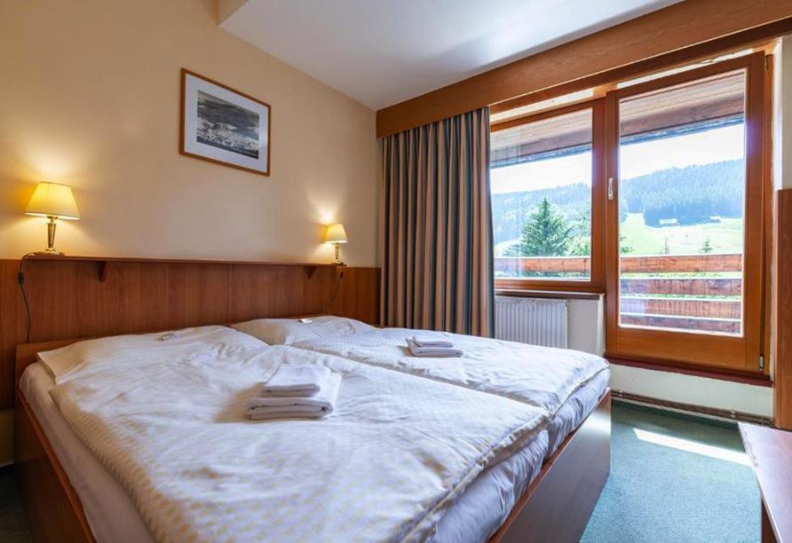 Parkhotel Harrachov im Riesengebirge, Zimmerbeispiel Balkon