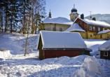 Parkhotel Harrachov im Riesengebirge, Winterlandschaft