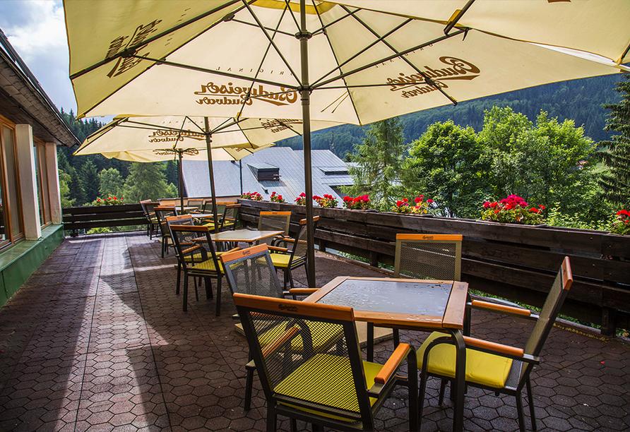 Parkhotel Harrachov im Riesengebirge, Terrasse