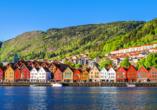 MSC Preziosa, Hafenfassaden Bergen