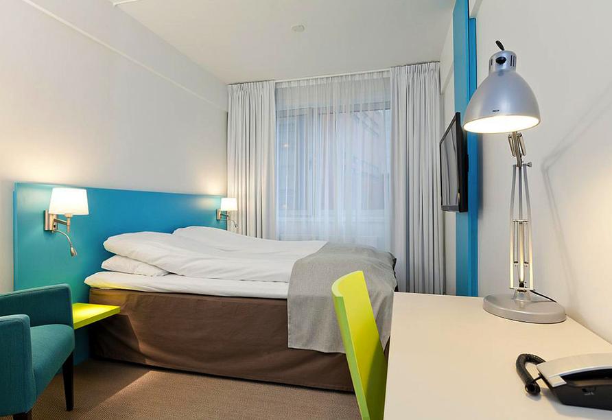 Norwegens Highlights, Zimmerbeispiel Thon Hotel Munch in Oslo