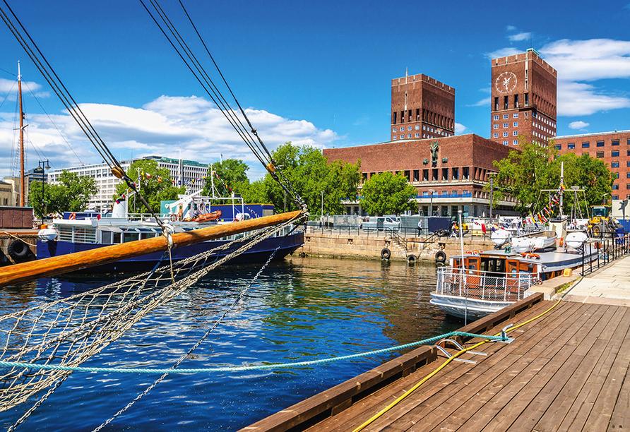 Color Line Minikreuzfahrt Kiel Oslo, Rathaus Oslo