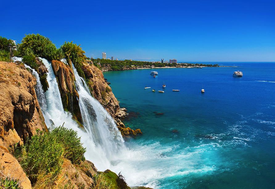 Hotel Titan Garden in Alanya, Düden Wasserfall in Antalya