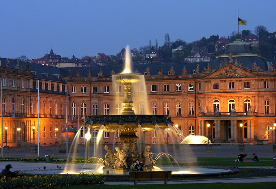 Hotel Krone in Gerlingen, Neues Schloss Stuttgart