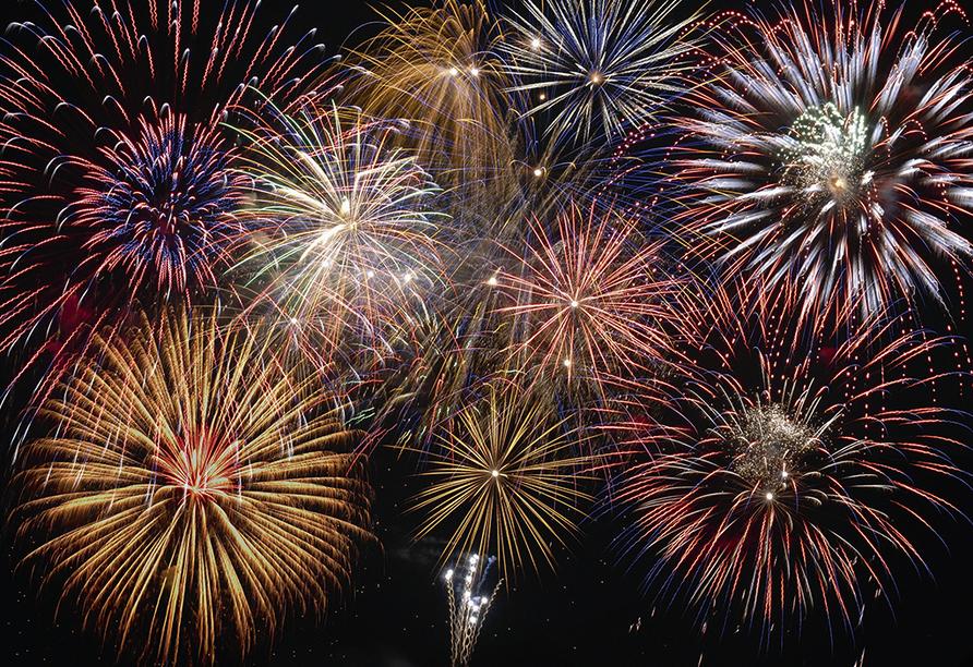 Spa Hotel Devin in Marienbad, Tschechien, Feuerwerk