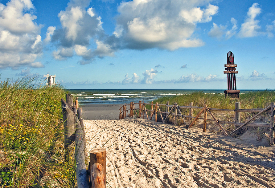 Saltic Resort & Spa, Gribow, Polnische Ostsee, Strand