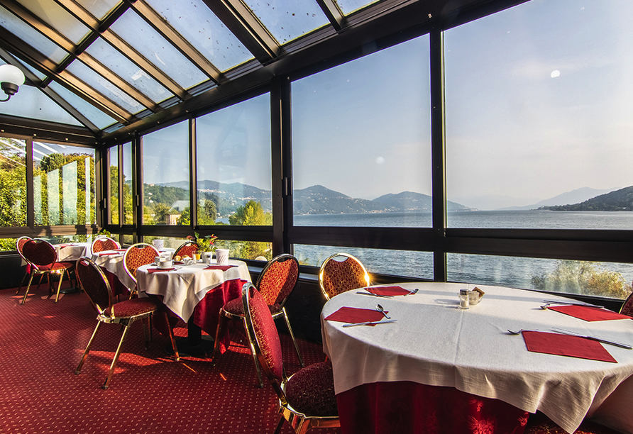 Hotel Concorde in Arona Lago Maggiore Italien, Wintergarten