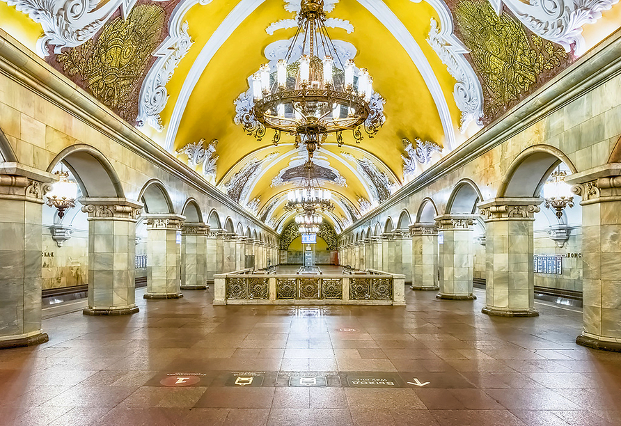 Kurzreise Russland, Moskauer Metro