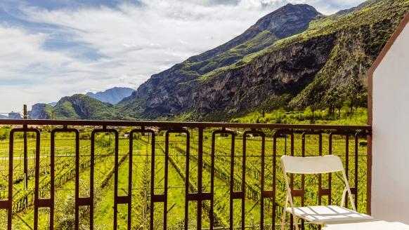 Aktivhotel Eden in Dro, Aussicht vom Balkon