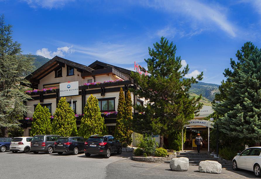 Relais Bayard in Susten im Wallis in der Schweiz, Aussenansicht