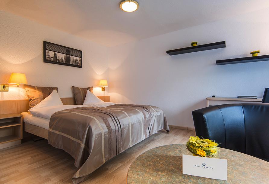Relais Bayard in Susten im Wallis in der Schweiz, Zimmerbeispiel Doppelzimmer