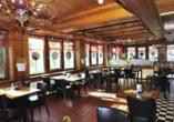 Relais Bayard in Susten im Wallis in der Schweiz, Restaurant
