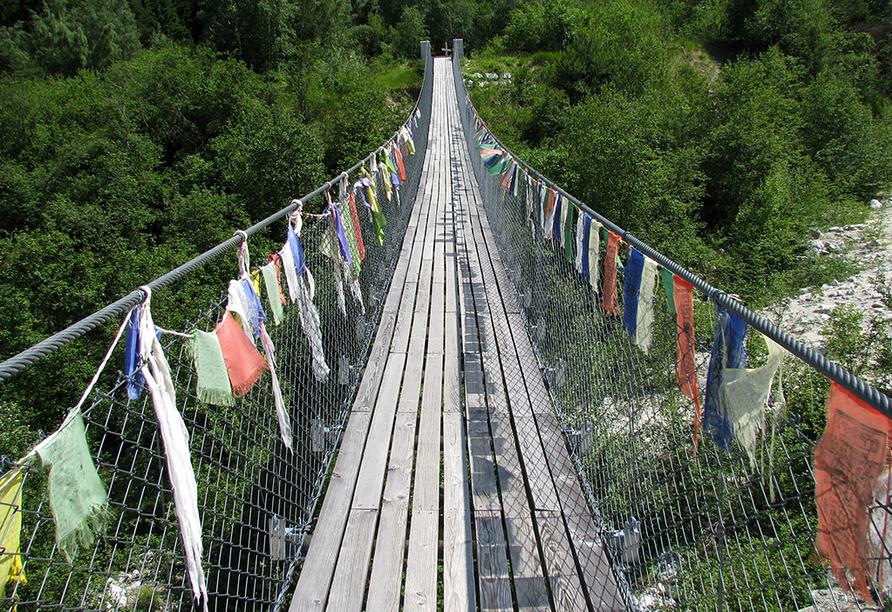 Relais Bayard in Susten im Wallis in der Schweiz, Buthanbrücke