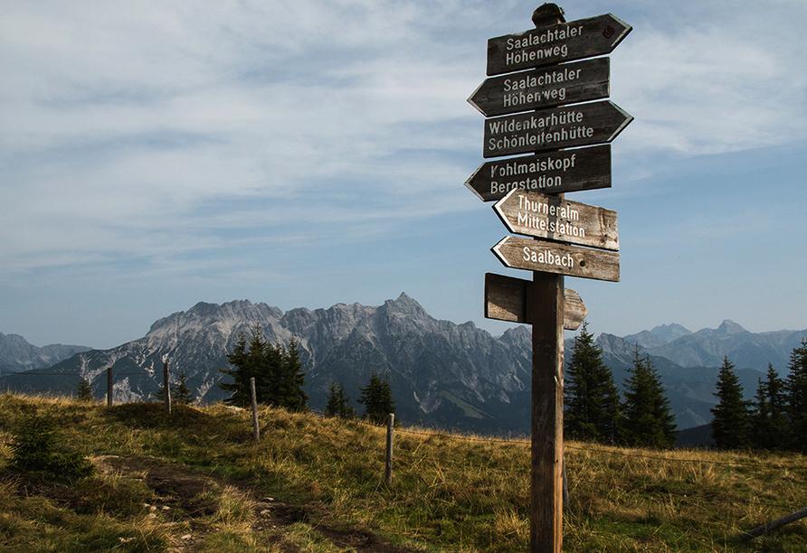 Bio-Pension Vorderlengau, Wanderweg Saalbach