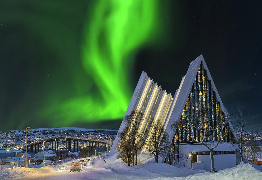 MS Vesterålen, Tromso Eismeerkathedrale, Nordlichter