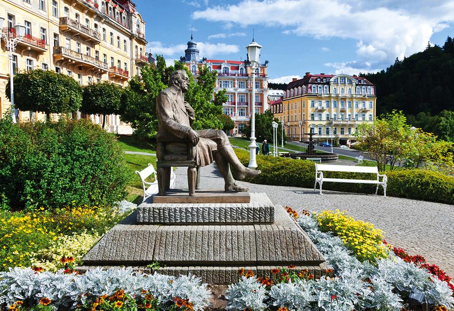 Hotel Flora, Marienbad, Tschechien, Goethestatue
