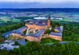 Vitalhotel Zum Löwen in Bad Staffelstein, Luftansicht Kloster Banz