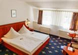 Traditionshotel Wilder Mann, Beispiel Doppelzimmer Doppelbett