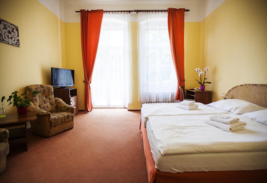 Kurhaus Sevilla in Franzensbad, Böhmisches Bäderdreieck, Tschechien, Zimmerbeispiel