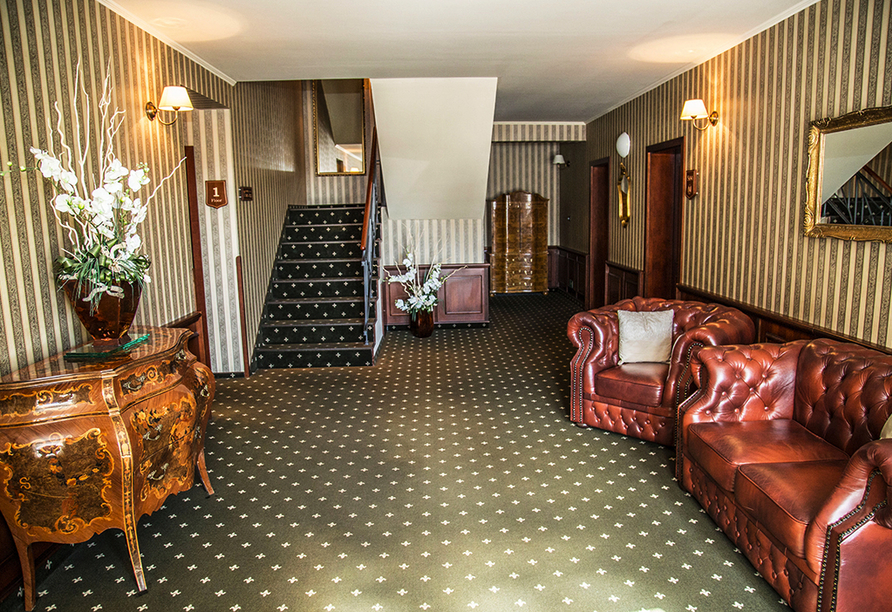 Golf Hotel Morris in Marienbad in Tschechien, Flur